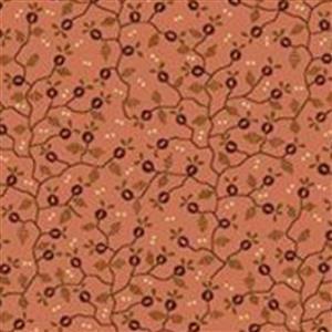 Henry Glass Esters Heirloom Shirtings Pink Mini Vine Fabric 0.5m