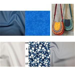 Blue Fiesta Bag Kit: Instructions & Fabric (3m)
