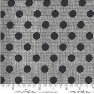 Moda Winkipop Black Polka Dot Fabric 0.5m