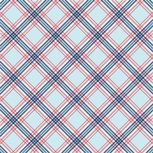 Riley Blake Notting Hill Cross Aqua Fabric 0.5m