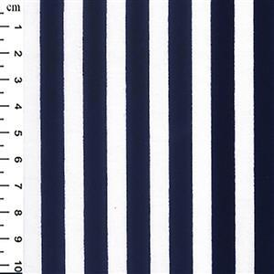 Navy Stripes on White Fabric 0.5m