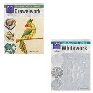 RSN Essential Stitch Guides Crewelwork & Whitework Book Bundle. Save Over 10%