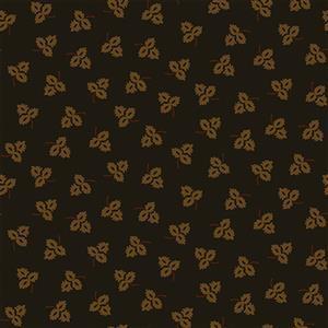 Henry Glass Esters Heirloom Shirtings Black Tossed Leaves Fabric 0.5m