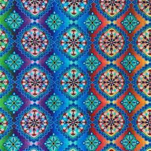 Blooming Paisley in Rainbow Fabric 0.5m