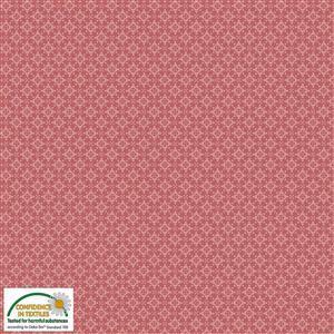 Hannah Basic Gyro Red Fabric 0.5m
