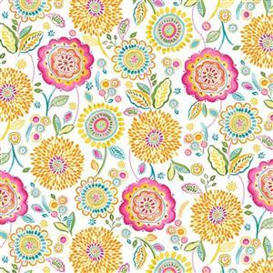 Happy Days in Floral Field Multi Fabric 0.5m