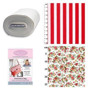 Red & Orange Roses Debbie Shore Rosemary Bag Kit: Pattern, Bosal & Fabric (1m)