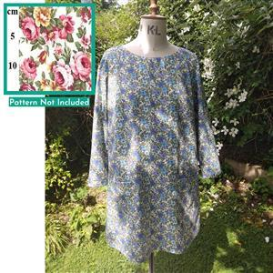 Pink & Yellow Roses Esme Tunic Top Fabric Bundle (2.5m)