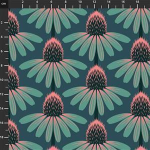 Anna Maria Horner Love Always Green Flower Head Fabric 0.5m