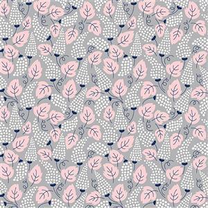 Riley Blake Meadow Lane in Grey Feather Fabric 0.5m