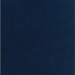 Squiggle Navy Extra Wide Backing Fabric 0.5m (280cm Width)