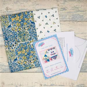 Living in Loveliness Sewn with Scraps Issue 5 Banner and Bunting - Liberty Blue