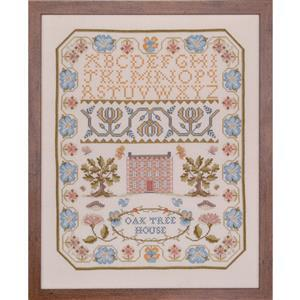The Cross Stitch Guild Oak House Sampler on Aida - Exclusive to Sewing Street