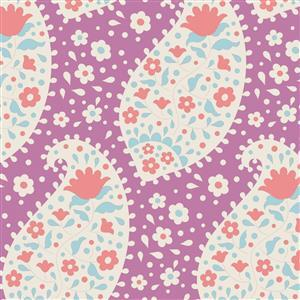 Tilda Plum Garden in Teardrop Plum Fabric 0.5m