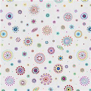Origins Circles on Cream Fabric 0.5m