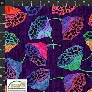 Medinilla Monkey Flowers Multi Fabric 0.5m
