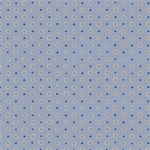 Hannah Basic Spotted Blue Fabric 0.5m