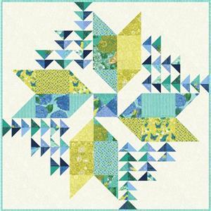 Moda Cottage Bleu Quilt Kit