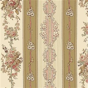 Wildflower Woods in Royal Floral Beige Fabric 0.5m