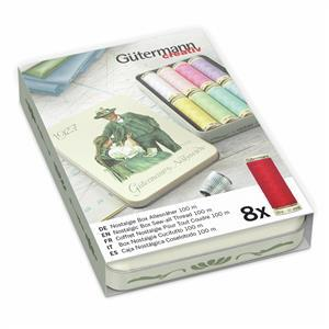 Gutermann Sew-All Nostalgic 1927 Thread Box Pastel Shades 8 x 100m