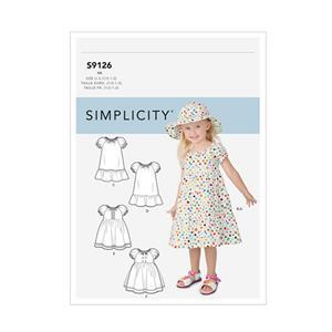 Simplicity Toddlers' Dresses Sewing Pattern: Sizes 6months to 2years