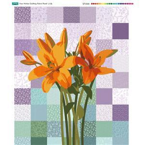 Lily Free Motion Quilting Fabric Panel (70 x 45cm)