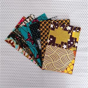 Dovetailed African Wax Fabric Assorted Half Yard Pack of 6