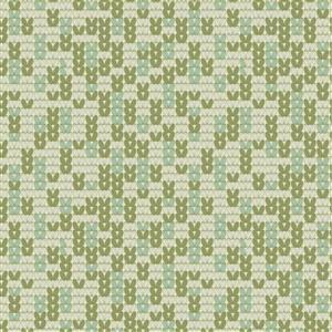 Poppie Cotton Snuggle Up Buttercup Warm & Cozy on Green Fabric 0.5m Sewing Street exclusive