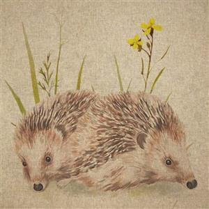 Hedgehog Linen-Look Panel (0.46m x 0.46m)