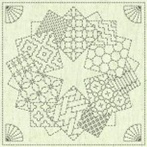 Sashiko Star Fabric Panel 30 cm x 30 cm (12
