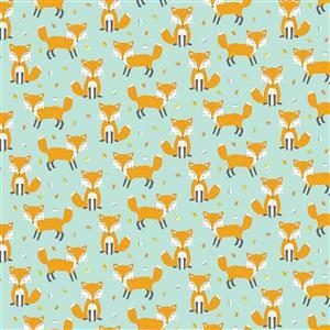 Woodland Friends Foxes Fabric 0.5m