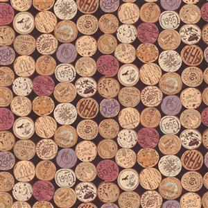 Vines & Wines Corks Fabric 0.5m
