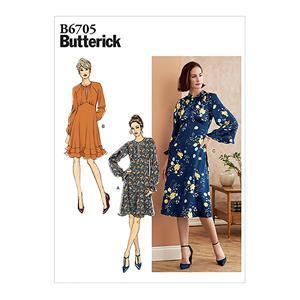 Butterick Long Sleeve Misses' Dress Pattern - Sizes 6-14