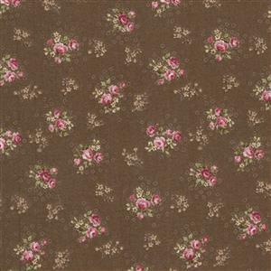 Trachten Rosen Brown Fabric 0.5m