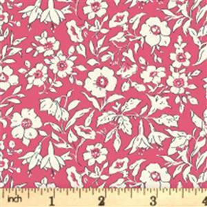 Liberty Cottage Garden Collection Red Morning Dew Fabric 0.5m