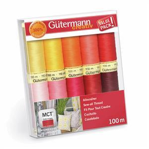 Gutermann Sew-All Thread Set Assorted Colours Pack1 10 x 100m