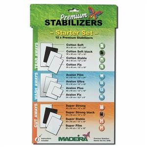 Madeira Premium Stabilizers Starter Set, contains 12 Stabilizers
