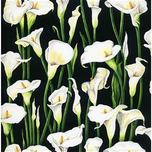 Elegant Single Lilies Fabric 0.5m