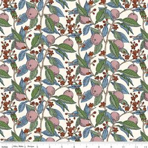 Liberty Summer House Collection in Plumb Conservatory Fruits Fabric 0.5m