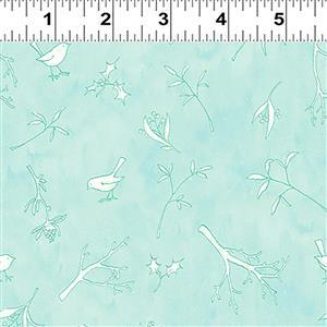 Guess How Much I Love You Iced Green Robins Fabric 0.5m