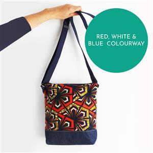 Sewgirl Red, White & Blue Spots Boho Bag Kit