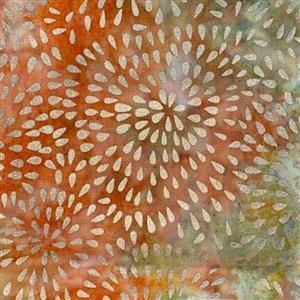 Metallic Stamped Batiks Autumn Fabric 0.5m