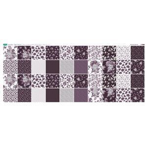Copen Plumb Fabric Squares Panel: 140 x 57cm: Exclusive