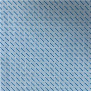 Little Noah Diagonal Dashes On Blue Fabric 0.5m