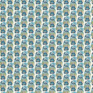 Liberty Emporium Collection Discovery Palmeria Turquoise Fabric 0.5m