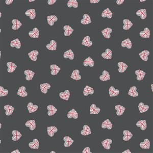 Lewis & Irene Britannia Union Jack Hearts on Black Fabric 0.5m