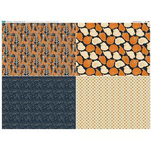 The Harbour 4 FQ's Fabric Panel 1. 140cm x 105cm. Exclusive