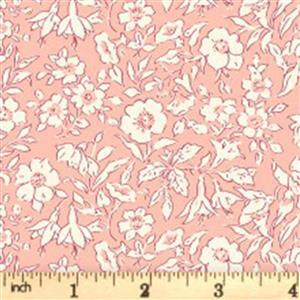 Liberty Cottage Garden Collection Pink Morning Dew Fabric 0.5m