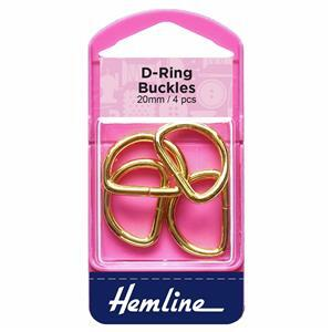 Gold D Rings 4 Pieces: 20mm