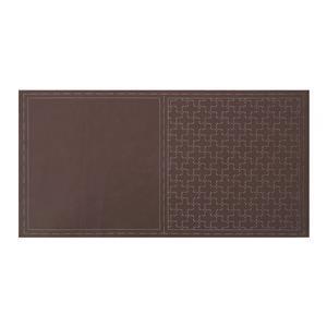 Pre-printed Sashiko Brown Square Panel by Lecien 32 x 32cm (12.5